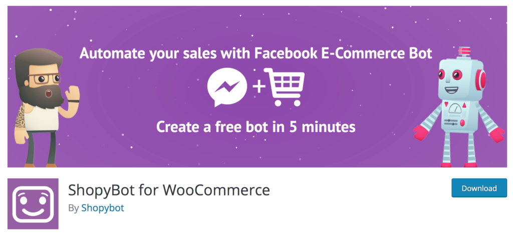 Shopybot plugin for WooCommerce